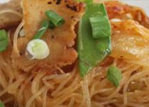 Kimchi Pancit with Pork Belly
