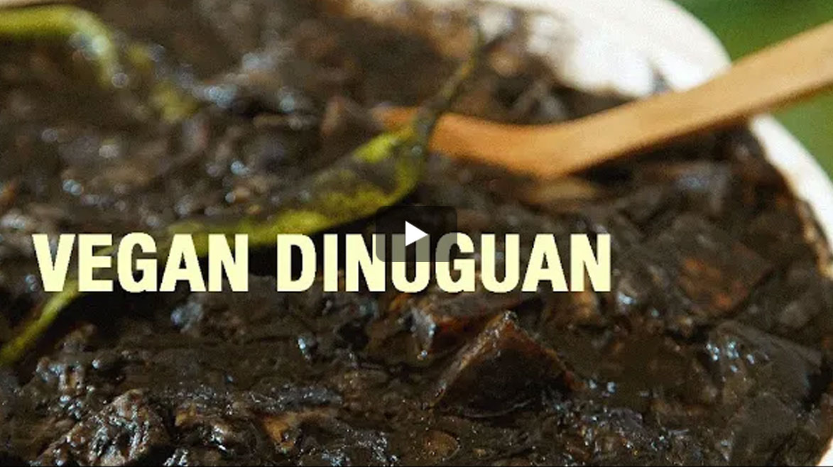Vegan Dinuguan with Activated Charcoal